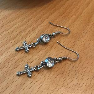 Jewelry - Gothic Cross Charm Earrings